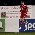 Young talent: Ryan Carmichael celebrates goal against Blues