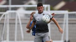 Joe McCready bagged the winning goal for Institute against Newry City last night
