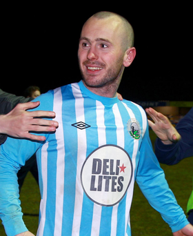 Hero: Stephen Hughes hit the winning penalty for Point