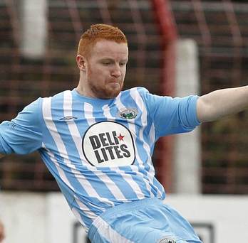 Controversy: Stephen Moan played for Warrenpoint against Ballinamallard on Saturday while suspended