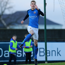 Decisive factor: Rhys Marshall celebrates his festive winner