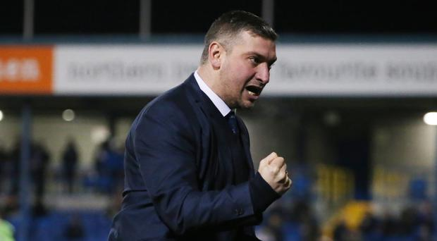Battling on: Warrenpoint manager Matthew Tipton