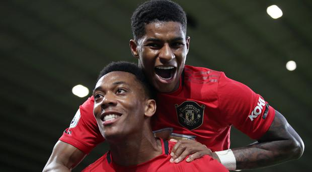 Anthony Martial and Marcus Rashford were both on target for Manchester United (Nick Potts/PA)
