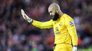 Everton's Tim Howard is out for six weeks
