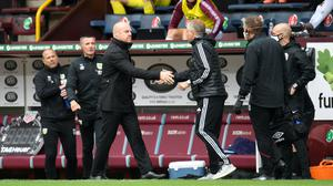Sean Dyche and Chris Wilder shared the spoils from a 1-1 draw at Turf Moor (Peter Powell/NMC Pool/PA)