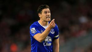 Everton's Gareth Barry faced Liverpool at Anfield