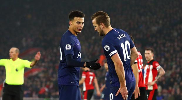 Harry Kane suffered a hamstring injury in the defeat at Southampton (Mark Kerton/PA)