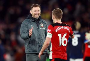 Hasenhuttl has given the captain's armband to James Ward-Prowse (Adam Davy/PA)