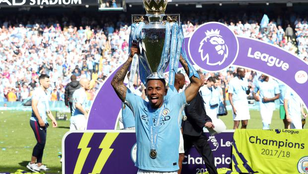 Gabriel Jesus gets his moment with the trophy
