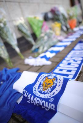 Tributes at the King power Stadium (Aaron Chown/PA)