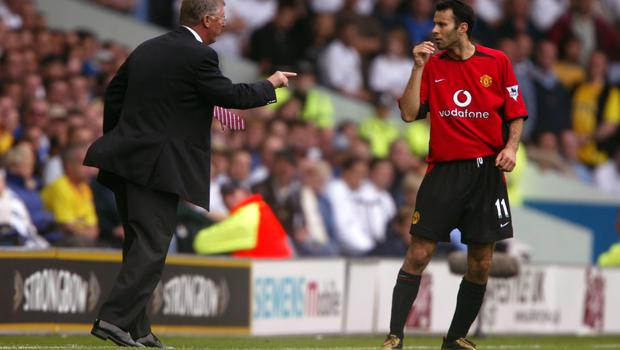 Manchester United manager Sir Alex Ferguson brought Ryan Giggs into the first team aged just 17. (Mike Egerton/EMPICS Sport)