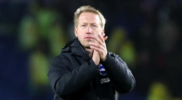 Graham Potter was full of praise for his Brighton players (Gareth Fuller/PA)