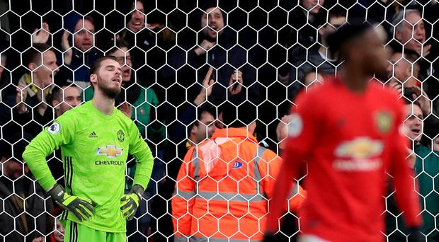 Manchester United goalkeeper David De Gea's mistake set Watford on their way to a valuable victory (Mike Egerton/PA)