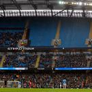 There were plenty of empty seats at the Etihad Stadium (Mike Egerton/PA)