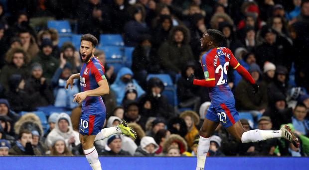 Andros Townsend scored a stunning goal for Crystal Palace at Manchester City (Martin Rickett/PA)