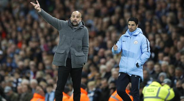 Manchester City manager Pep Guardiola is waiting on assistant Mikel Arteta's decision following his talks with Arsenal.