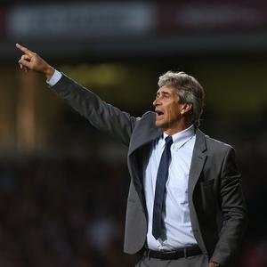 Manuel Pellegrini hailed Manchester City's first win on the road this season