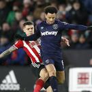 Felipe Anderson has been ruled out for one month (Martin Rickett/PA)