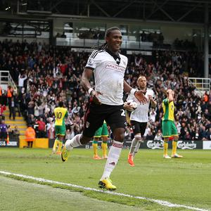Hugo Rodallega celebrates scoring the winning goal