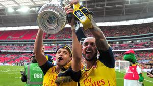 Chile forward Alexis Sanchez, left, helped Arsenal win the 2015 FA Cup at Wembley
