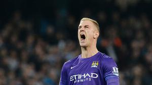 Manchester City goalkeeper Joe Hart made a late error but his side came back to beat Norwich 2-1