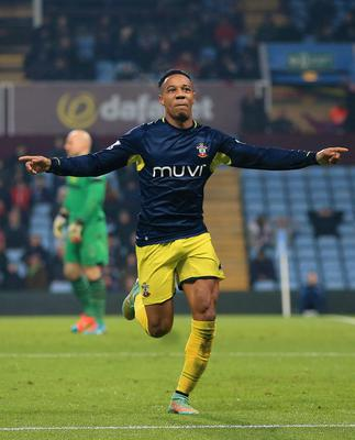 Late hero: Nathaniel Clyne celebrates after his goal denied Aston Villa their first victory in eight games