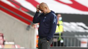 Pep Guardiola accepts Manchester City have made too many mistakes this season (Frank Augstein/NMC Pool/PA)
