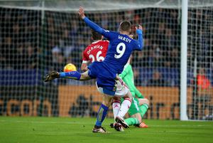 Vardy scored in 11 straight games (Mike Egerton/PA)