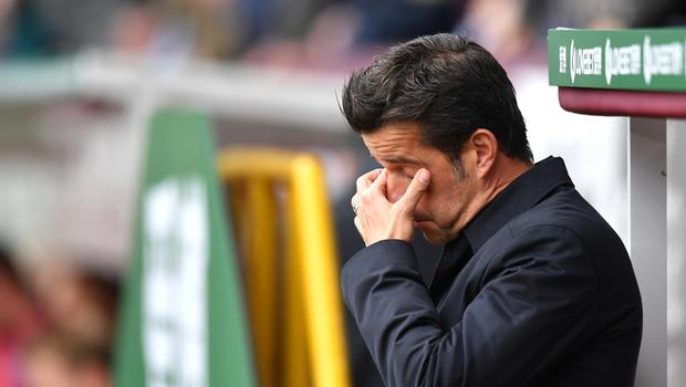 Marco Silva took training amid mounting pressure (Anthony Devlin/PA)