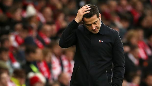 Everton boss Marco Silva is still in place for now (Mark Kerton/PA)