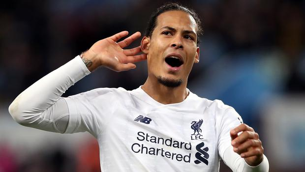 Virgil Van Dijk insists it is too early to get carried away by his side's eight-point lead at the top of the Premier League (Nick Potts/PA)