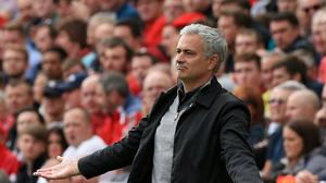 Manchester United manager Jose Mourinho saw his side draw 0-0 with Liverpool