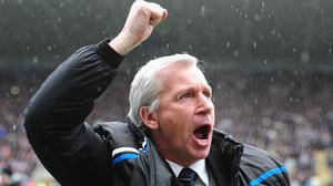 Alan Pardew led Newcastle to fifth place in the 2011/12 season (Owen Humphreys/PA)