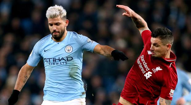 Sergio Aguero will be hoping to fire Manchester City to victory over Liverpool on Sunday (Richard Sellers/PA)