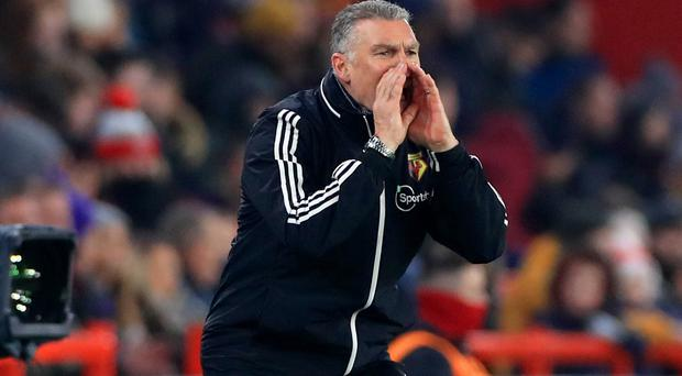 Nigel Pearson saw his Watford side hold Sheffield United (Mike Egerton/PA).