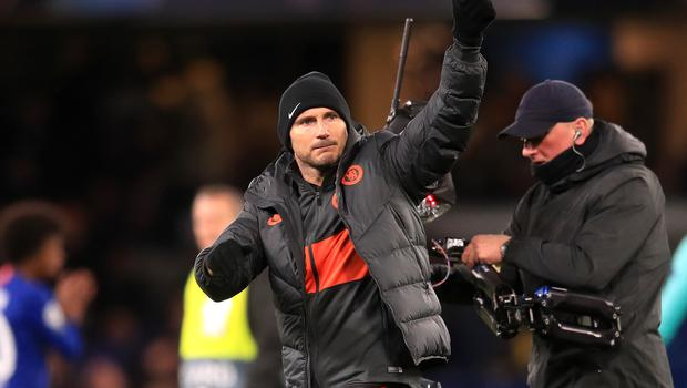 Chelsea manager Frank Lampard celebrates his side's victory (Adam Davy/PA).