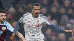 Joel Matip will be out for six weeks (Nigel French/PA)