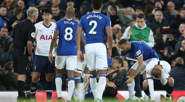Cenk Tosun dedicated his equaliser against Tottenham to stricken team-mate Andre Gomes (Nick Potts/PA)