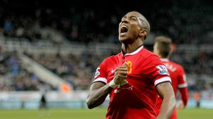 Ashley Young scored a rare Premier League goal to down Newcastle