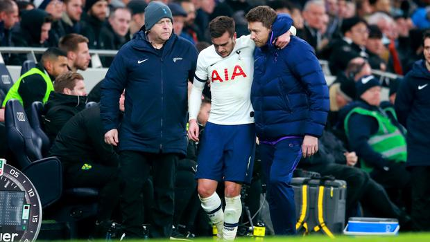 Harry Winks was injured during Tottenham's win over Norwich (Adam Davy/PA).