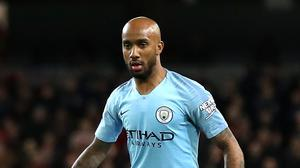 Fabian Delph was frustrated after Manchester City's loss to Crystal Palace (Martin Rickett/PA)