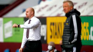 Sean Dyche, left, and Chris Wilder are both hoping to reach Europe next season (Clive Brunskill/NMC Pool/PA)