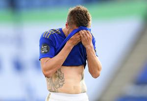 Jamie Vardy is struggling for goals at the moment (Michael Regan/NMC Pool/PA)
