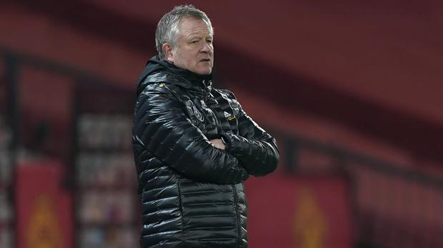 Chris Wilder leaves his job with the Blades bottom of the Premier League (Tim Keeton/PA)