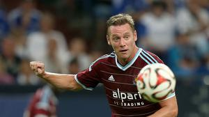Kevin Nolan could be sidelined for six weeks after fracturing his shoulder