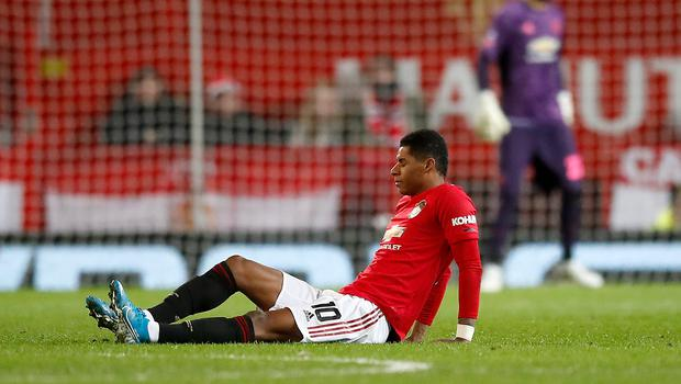 Marcus Rashford sustained his back injury in the recent FA Cup replay win against Wolves (Martin Rickett/PA)