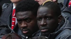 Kolo Toure, left, has pledged his support to Mamadou Sakho after the defender's failed drug test