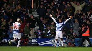 Queens Park Rangers' Charlie Austin is back from a ban against West Brom