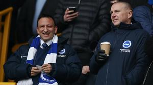 Brighton chief executive Paul Barber, right, is helping plan the Premier League's return. (Nick Potts/PA)
