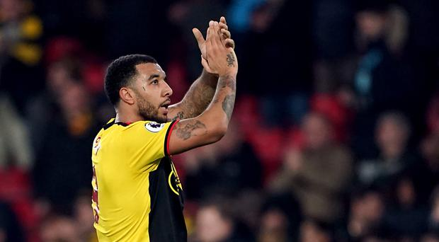 Watford's Troy Deeney has scored three goals in his last two games at Vicarage Road (Tess Derry/PA)